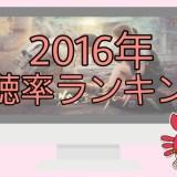 韓国ドラマ2016年視聴率