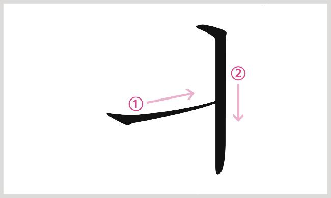 母音ㅢの書き順
