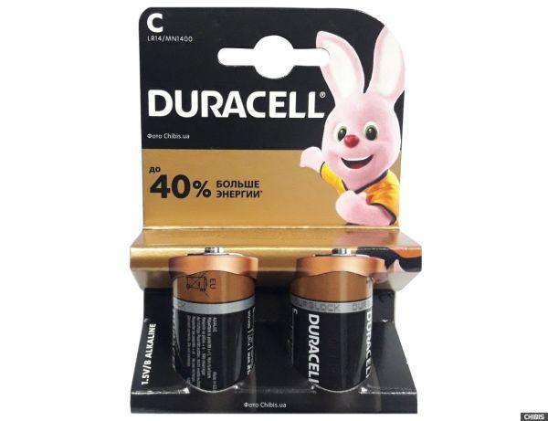 Батарейка LR14 Duracell Basic 1.5V 1/2 шт - купить по ...