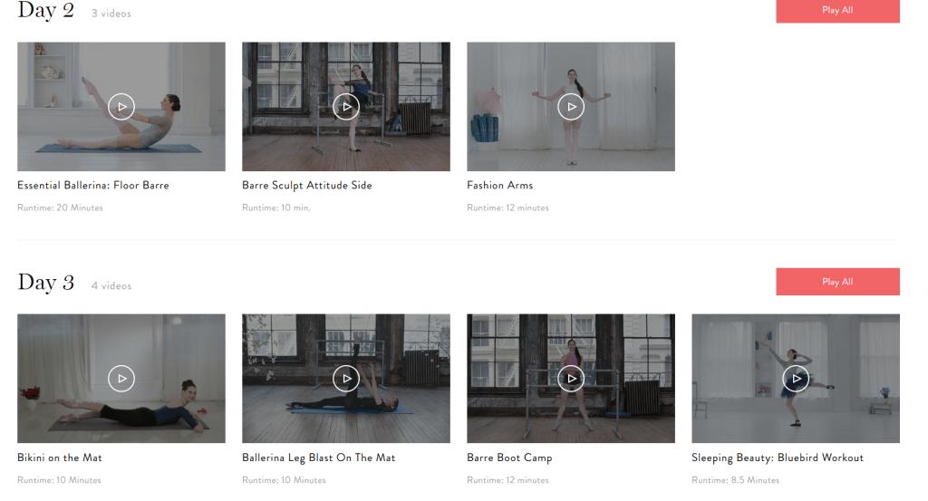 Ballet Beautiful Custom Workout