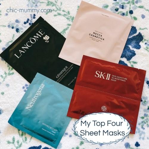 Top Four Sheet Masks