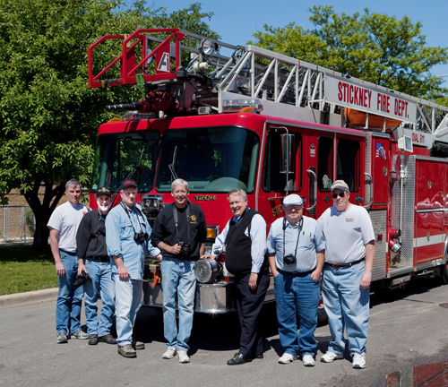 Illinois Fire Photographers Hank Sajovic, Larry Shapiro, Bil Friedrich, Steve Redick