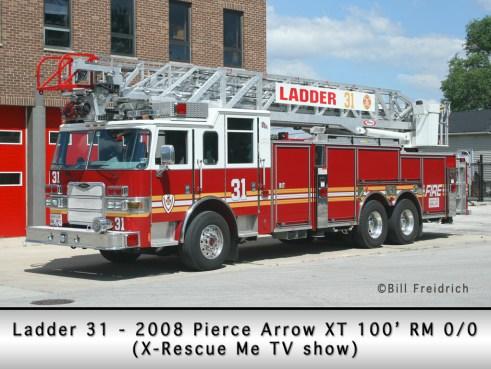 Roberts Park Fire Protection District Pierce Arrow XT ladder 'Rescue Me'