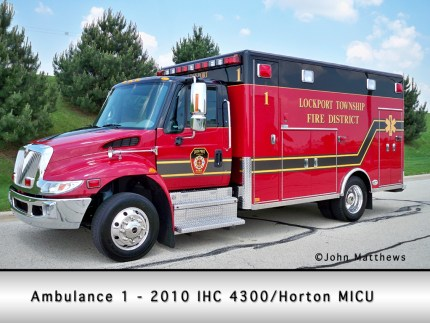 Lockport Township FPD ambulance 1 Medtec