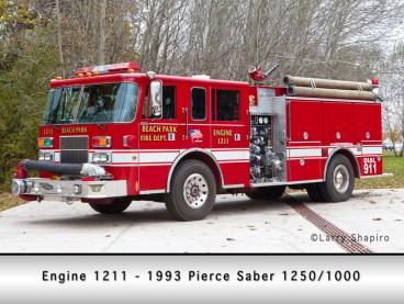Beach Park Fire Protection District Pierce Saber engine