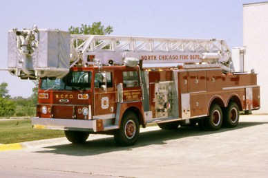 North Chicago Fire Department Hendrickson Pierce LTI 85' tower ladder