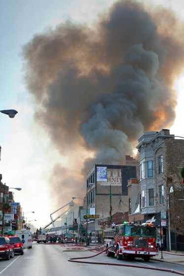 Chicago Fire Department 3-11 alarm fire on Lincoln Avenue