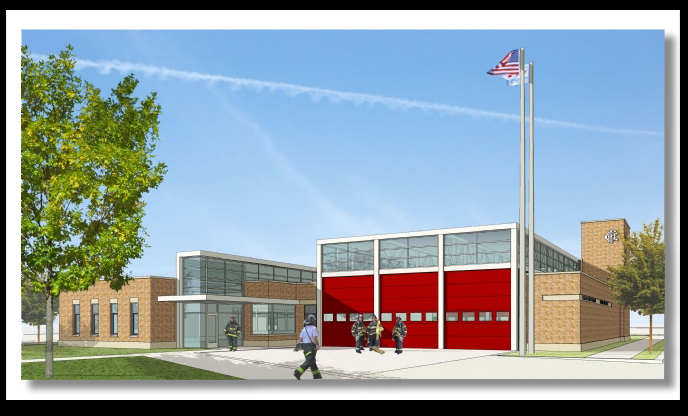 Chicago Fire Department fire station artist rendering