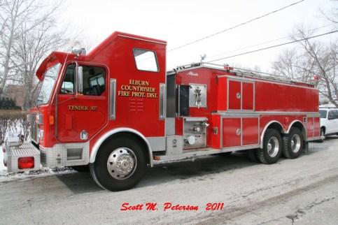 South Elgin Fire Department house fire Jan 20, 2011 Elburn Fire District