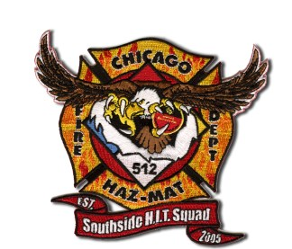 Chicago Fire Department Haz Mat 512 patch