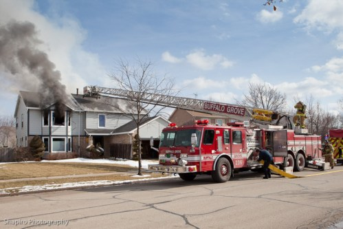 Buffalo Grove Fire Department house fire 803 Highland Grove Drive