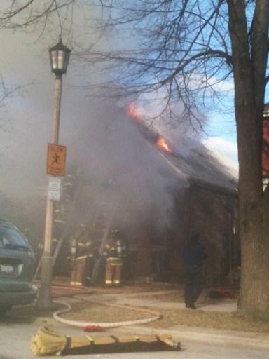 Berwyn Fire Department house fire on Harvey 3-27-11