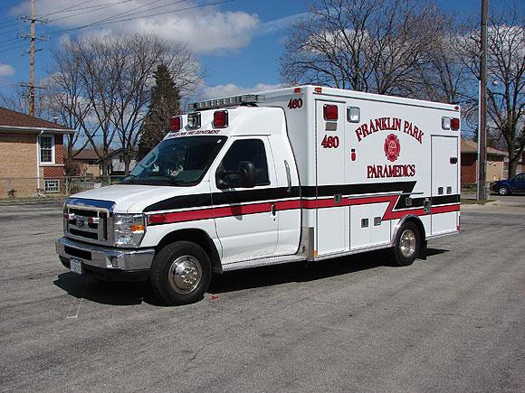 Franklin Park Fire Department Ford Medtec ambulance