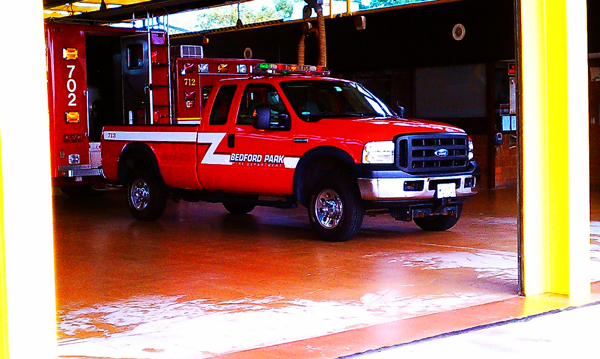 Bedford Park Fire Department pickup