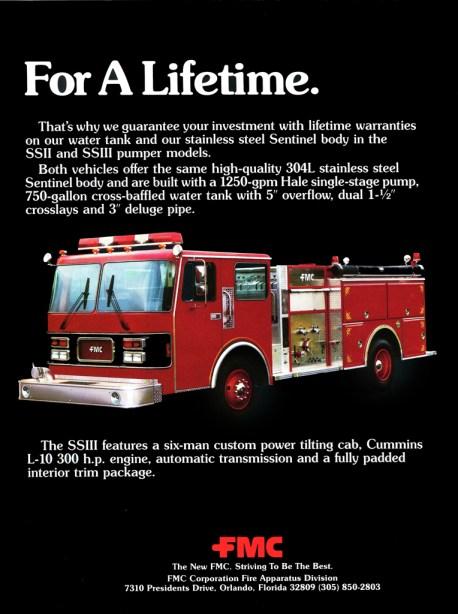 FMC Fire Apparatus Sentinel pumper brochure