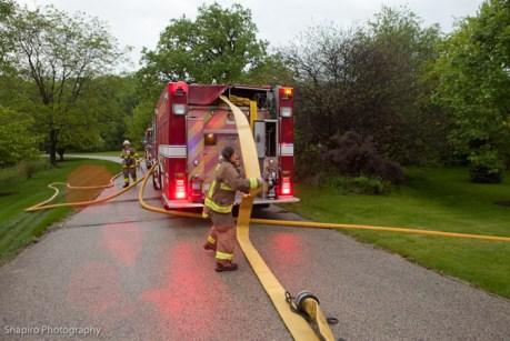 Long Grove Fire Department house fire lightning strike Muirwood Ct 5-29-11