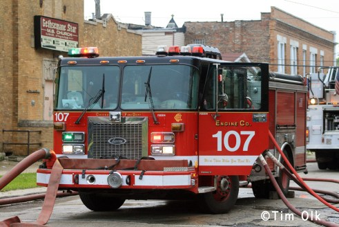Chicago Fire Department 2-11 Alarm church fire 5-28-11 15th Street