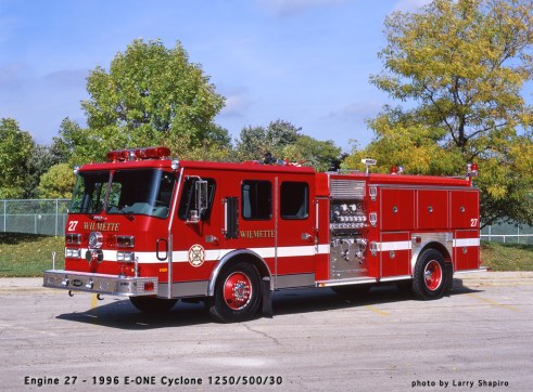 Wilmette Fire Department E-ONE Cyclone engine