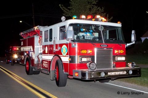 Northfield house fire on Wagner Road 8-28-11 Northfield Engine 29