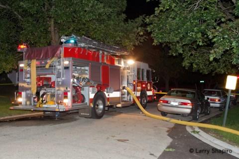 Wheeling Fire Department townhouse fire 8-22-11 Fall Court