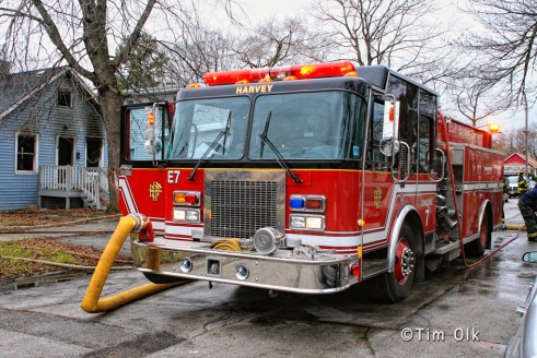 Harvey Fire Department house fire 12-4-11
