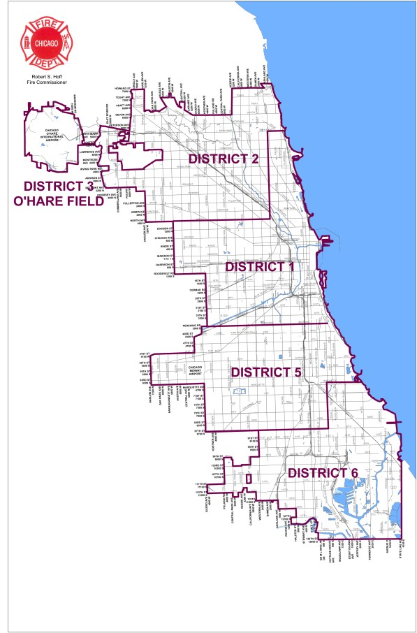 Chicago Fire Department District Map Effective 1-1-2012