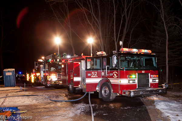 Riverwoods house fire 1-27-12 Wildflower Lane Lincolnshire-Riverwoods FPD