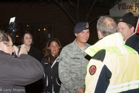 Buffalo Grove welcomes airman Ben Rosengarden home