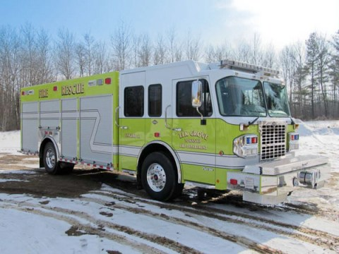 Elk Grove Township FPD new Marion rescue pumper