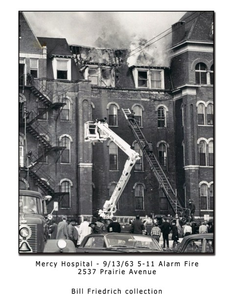 Mercy Hospital Fire 9-13-63 in Chicago