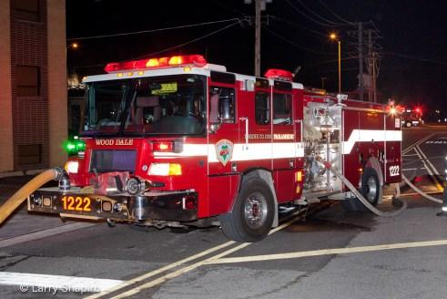 Wood Dale Fire Department commercial fire 3-29-12 at 370 E. Irving Park Road Pierce Quantum