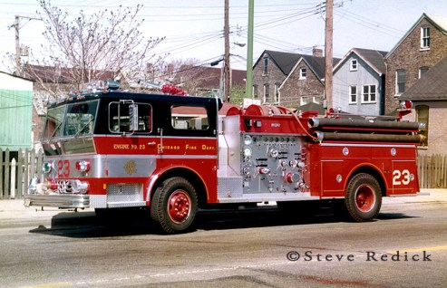 Chicago Fire Department 1973 Ward LaFrance Ambassador P80 engine 23