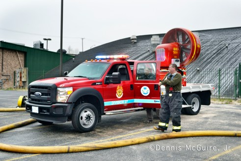 fire in vacant building on Sibley Boulevard in Dolton 3-31-12 Tempest MVU