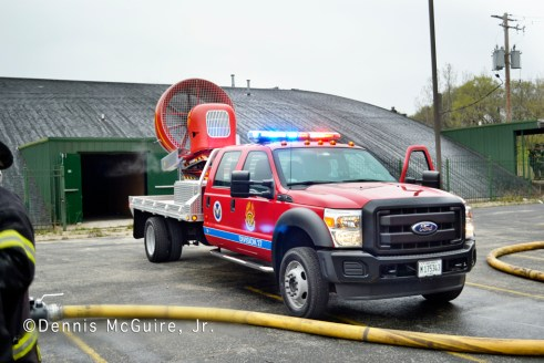 fire in vacant building on Sibley Boulevard in Dolton 3-31-12 MABAS MVU