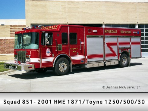 Riverdale Fire Department HME Toyne Squad 851