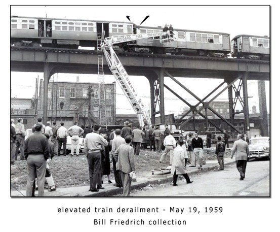 Chicago Fire Department elevated train derailment 1959