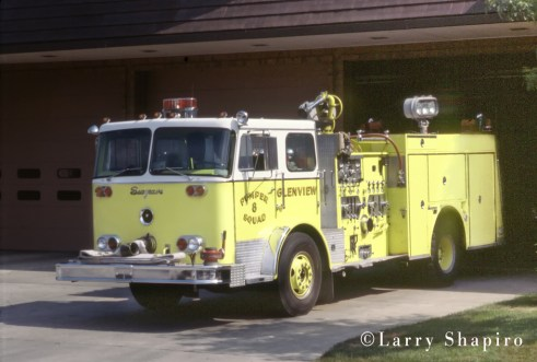Glenview Fire Department 1975 Seagrave PB series pumper squad