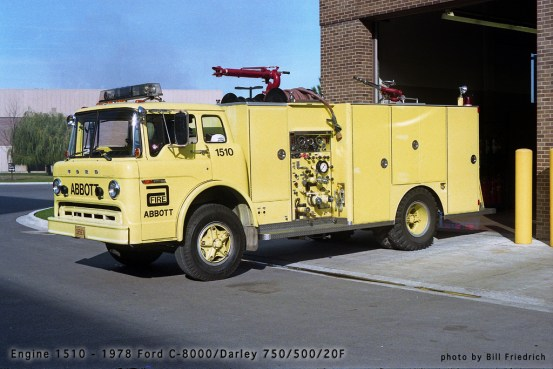 Abbott Labs Fire Department engine