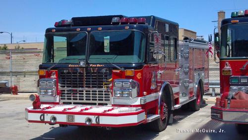 Chicago Fire Department Quinn Fire Academy engine