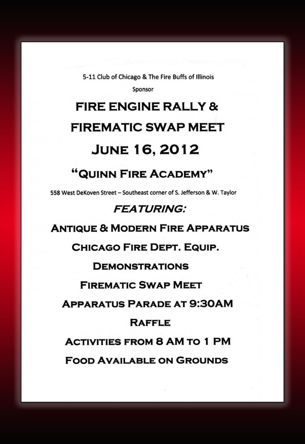 Chicago Fire Department 2012 Swap Meet