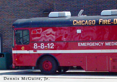 Chicago 8-8-12 Mobile Ambulance Bus