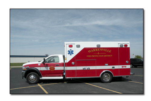 Warrenville Fire Protection District Braun ambulance