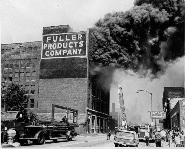 historic photo of major fire in Chicago