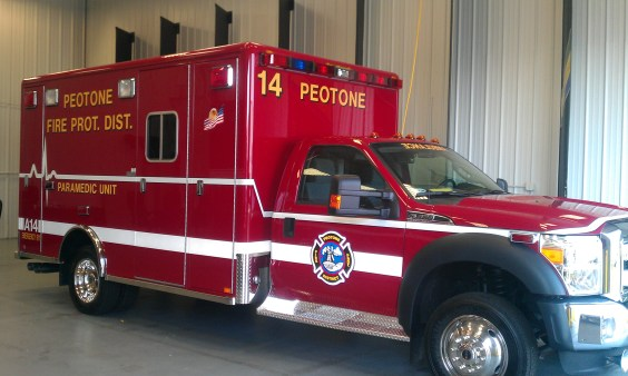 Peotone Fire Department receives new Horton ambulance