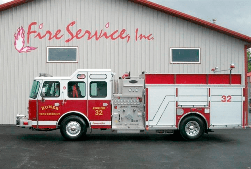 Homer Township Fire Protection District new engine