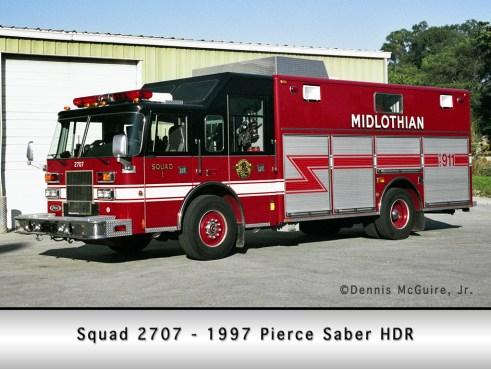 Midlothian Fire Department Squad 2707