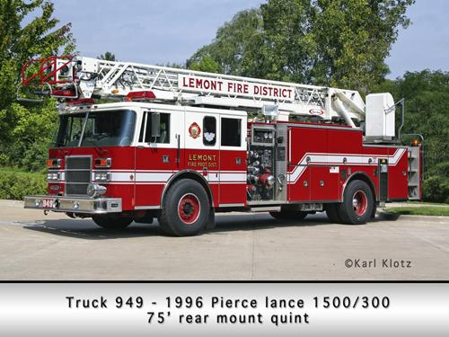 Lemont Fire Protection District Truck 949