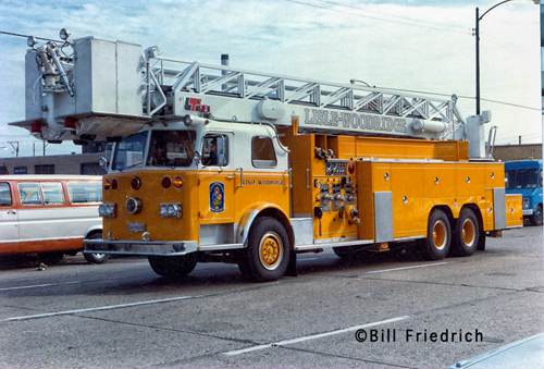 Lisle Woodridge FPD historical photo Pirsch LTI tower ladder