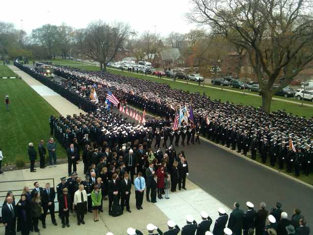 Funeral for Chicago Fire Department Captain Herbert Johnson