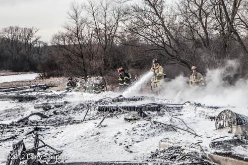 barn fire in Barrington Hills